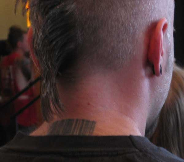 Back of Neck Barcode