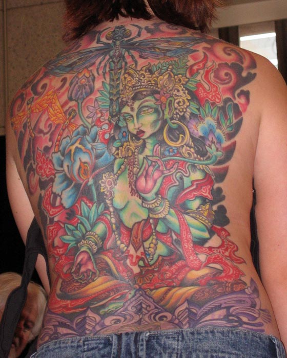 Garden goddess backpiece cool tattoos gallery of for Garden tattoos designs